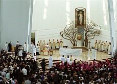 Intérieur du Sanctuaire de la Miséricorde Divine à Cracovie