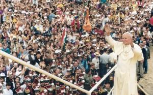 Les JMJ de 1991 ont eu lieu au Sanctuaire, avec Jean-Paul 2