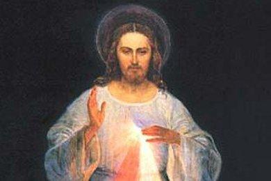 Détail de l'icône demandée par Jésus à Sainte Faustine