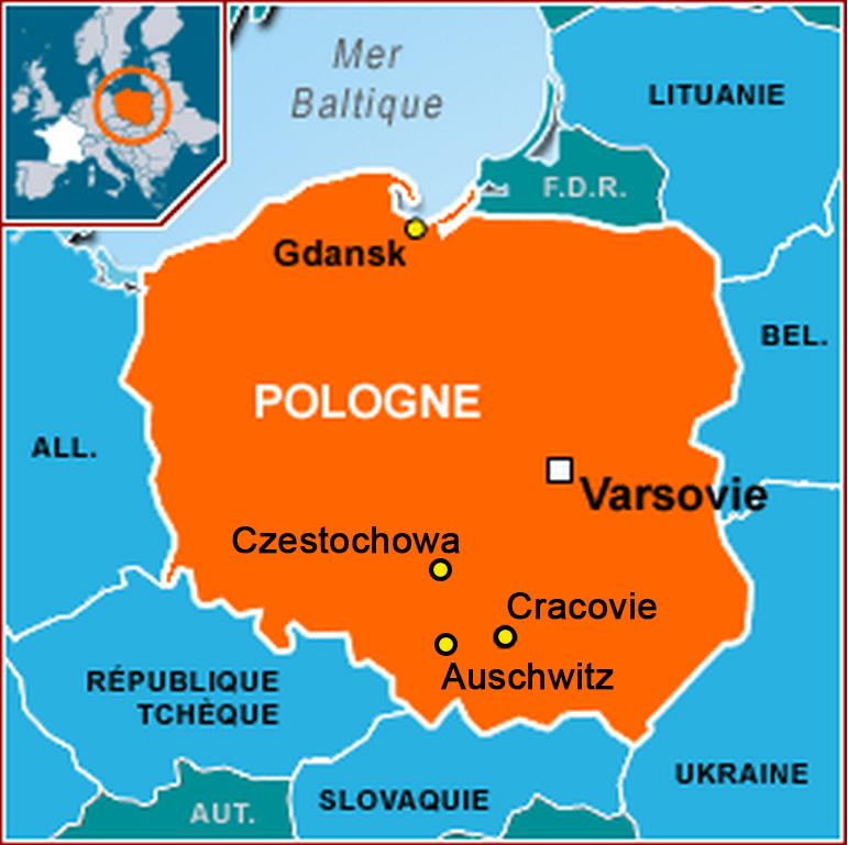 Poland-carte-villes
